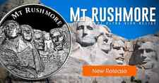 "American Landmark Series ""Mt Rushmore"" Ultra High Relief 2 oz .999 Silver Round"