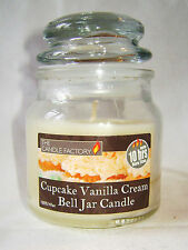NEW SCENTED CANDLE GLASS JAR WITH LID 10 HOURS BURN TIME CUPCAKE VANILLA CREAM