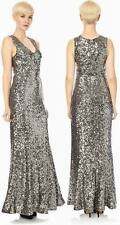 RRP £230 BNWT 8 FRENCH CONNECTION OZLEM SEQUIN MAXI EVENING COCKTAIL DRESS GOWN