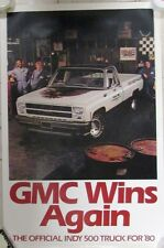 Original 1980 GMC Dealer Showroom Poster Official Indianapolis 500 Truck Rare