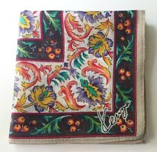 HANDKERCHIEF ART CLASSIC VINTAGE TURKISH PATTERN WOMEN'S POCKET SQUARE SCARF~18""