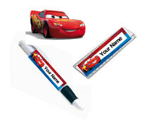 Personalised Lightning Mcqueen Pen/Ruler Stationary School Set - Add Your Name!