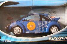 VW VOLKSWAGEN NEW BEETLE #35 1999 SOLIDO 1/18 BLUE BLAU COCCINELLE