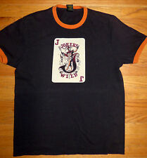 ** LUCKY BRAND ** Jokers Wild Brown Awesome T Shirt Poker Black Jack Vegas M