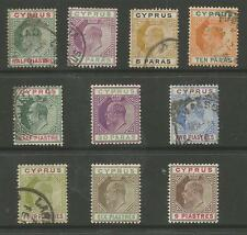 CYPRUS EVII MINT AND USED SELECTION CAT £110