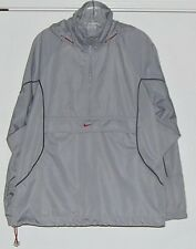 Nike Gray Half Zip Hooded Pullover Jacket Vented Back Men's Size S