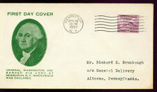 1933 FDC - Scott# 727 - Newburgh, NY Cancel - WSE Cachet