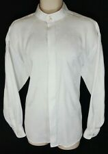 PAVO SHIRT BY LASTRADA.  L, LARGE.  16, 16 1/2.  POLYESTER, RAYON.  GUC.    1216