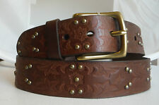 Brighton MARLEY STUDDED  Leather Belt  Size 46  NWT  M70118