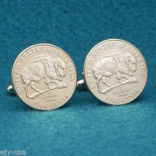 2005 Buffalo Nickel Cufflinks, USA American Bison Coin