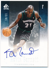 Kevin Garnett 04-05 UD SP Signature Edition Jersey Number Auto 10/21