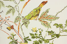 1970's Retro Vintage Wallpaper Yellow and Orange Birds Butterflies