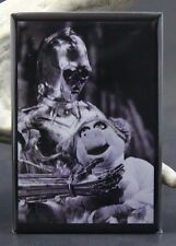 Miss Piggy as Princess Leia and C-3PO - Fridge Magnet. The Muppets Star Wars