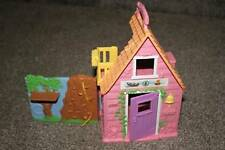 Sweet Streets Fisher Price Camp Cabin Dollhouse Doll Camping Toy Pink RARE HTF
