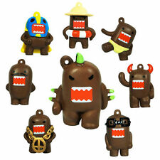 Domo 8 unique 1-Inch Keychain Figurines. VERY POPULAR JAPANESE ANIME