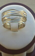 14k White Yellow Gold his hers 2 piece Matching Wedding Bands S 7, 10