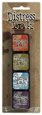 TIM HOLTZ Ranger DISTRESS Mini Ink Kits 8 Persimmon Crushed Olive Tumbled Dusty