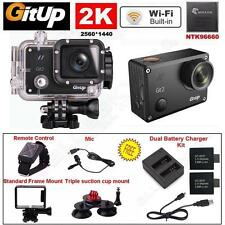2K Wifi Gitup Git2 Pro Car Sports Action Camera+Control+Mic+Dual Charger+Frame Y