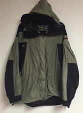 Women's MOUNTAIN HARDWEAR Conduit Hooded Jacket Coat Size 14 Black Green