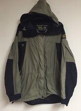 Women's MOUNTAIN HARDWEAR Conduit Hooded Jacket Coat Size 14 Black Green