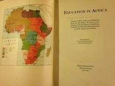 Education in Africa Study of West South & Equatorial Africa School Teachers