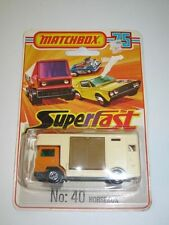 MATCHBOX SUPERFAST 40 Bedford Horsebox Mint on Unopened Card
