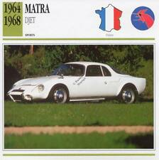 1964-1968 MATRA DJET Sports Classic Car Photo/Info Maxi Card
