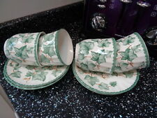 BHS / BARRATTS COUNTRY VINE CUPS AND SAUCERS X 4