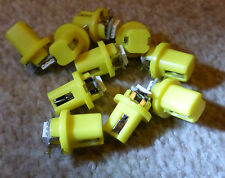 10X T5 B8.5D Gauge 5050 1SMD Yellow LED Speedo Dashboard Dash Side Light Bulb