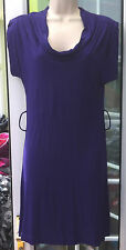 BNWT - DOROTHY PERKINS PURPLE COWL NECK KNEE LENGTH CAP SLEEVE DRESS - SIZE 6