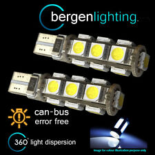 2x W5W T10 501 Errore Canbus libero XENON WHITE 13 LED Side Repeater BULBS sr101801