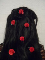6 valentine red rose hair grips accessories wedding hair flowers kirby hair pins