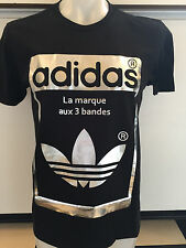 ADIDAS SUPERSTAR OG BLACK GRAPHIC TEE T SHIRT MENS SIZE SMALL NWT