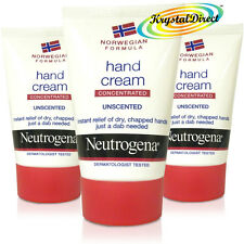 3x Neutrogena Norwegian Formula Concentrated Hand Cream Unscented 50ml