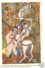 1930s Diego Rivera Fresco Postcard - Escena de la Conquista/The Conquest