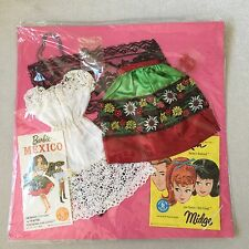 VINTAGE 1964 BARBIE IN MEXICO OUTFIT #820 MINT IN PACKAGE - IN WORN BOX