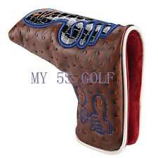 New Custom Thumb Blade Headcover Golf Putter Head Cover For Odyssey Scotty Ping
