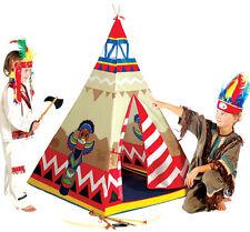 Indianerzelt Wigwam Tipi Kinderzelt Teepee Kunststoff Zelt für Kinder Spielzelt