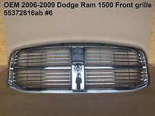 2006-2009 oem dodge ram 1500 front chrome grille 55372816ab 6