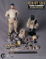 "CrazyDummy 1/6 Scale US NAVY SEAL TEAM 8 GUNNER W/ MK48MOD1 12"" Action Figure"