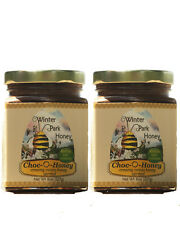 Creamy Chocolate Honey  - Pure Natural Organic Raw Bee Honey (2 x 8oz glass)
