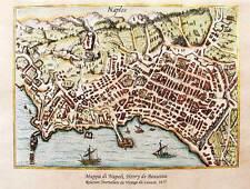 Mappa del Golfo di Napoli, 1615. Dipinta a mano su carta antica, cm. 42x30