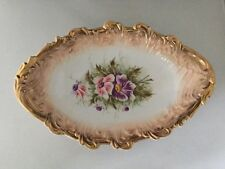 Carl Tielsch Altwasser-C.T. Germany- Large Oval Serving Bowl-Floral.    #1309