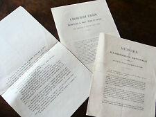 GUERRE DE 1870 lot de 3 documents  lettres circulaires relatives aux vosges