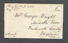 """Stoney Creek PO Va Augst 2nd"" 1830s Shenandoah County addressed - George Wright"