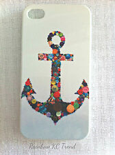 Colourful Button Anchor Printed iPhone 4/4S Case for Apple iPhone 4 4s
