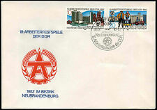 East Germany 1982 19th Workers Festival FDC First Day Cover #C32854