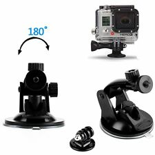 Car Mount Holder Suction Cup Sucker+Tripod Adapter For GoPro Hero 2 3+ 4 5 Black