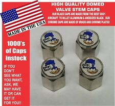 4 Chrome Domed Plymouth Super Bird Road Runner Valve Stem Caps -NOT ABS Plastic