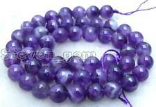 "SALE Small 8mm Round Natural High Quality Amethyst beads strand 15"" -los355"
